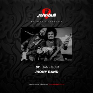 INGRESSO JHONY BAND | 07 JAN | QUI